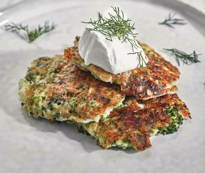 Galettes de brocoli et fromage