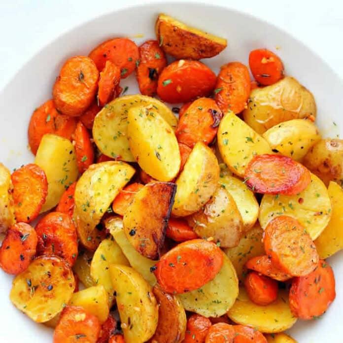 Pommes de terre et carottes au cookeo