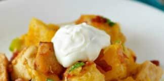 Pommes de terre et poulet au four