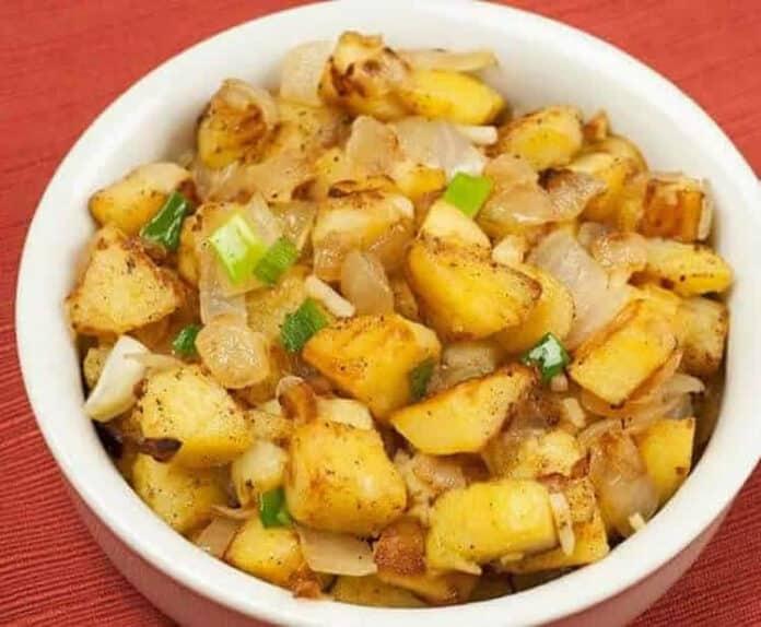 Pommes de terre sautées avec oignon