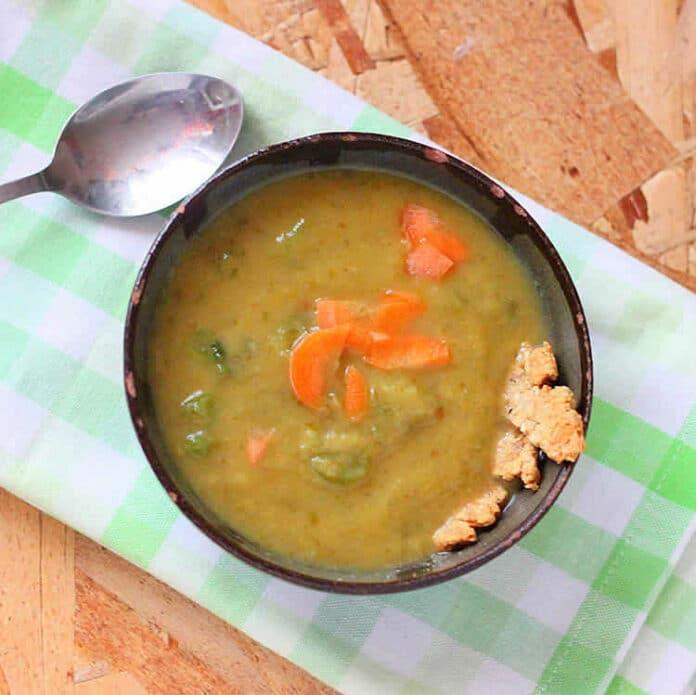 Soupe de pommes de terre et carottes