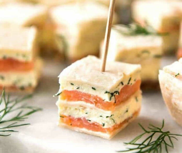 Bouchées apéritives au saumon
