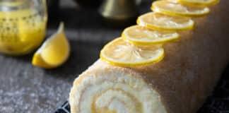 Bûche à la crème au citron
