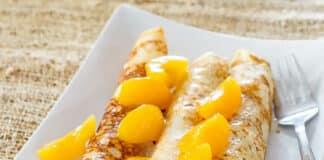 Crêpes aux jambon et mangue