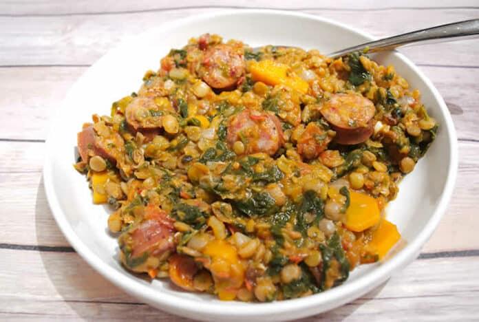 Lentilles aux saucisses et carottes au cookeo
