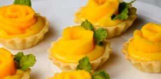 Mini tarte à la mangue