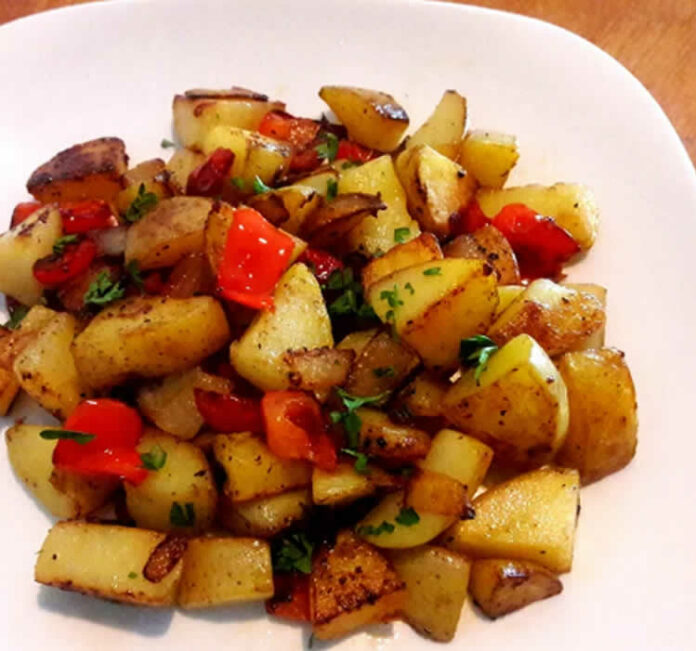 Pommes de terre aux poivrons au cookeo
