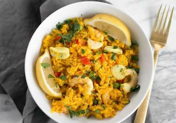 Riz aux fruits de mer au cookeo