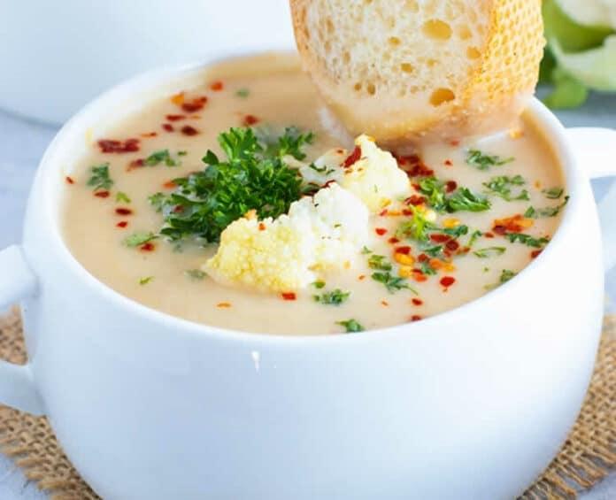 Soupe de chou fleur au fromage