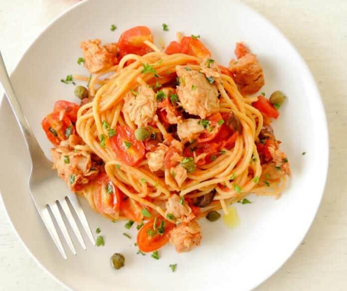 Spaghettis à la sauce thon au cookeo
