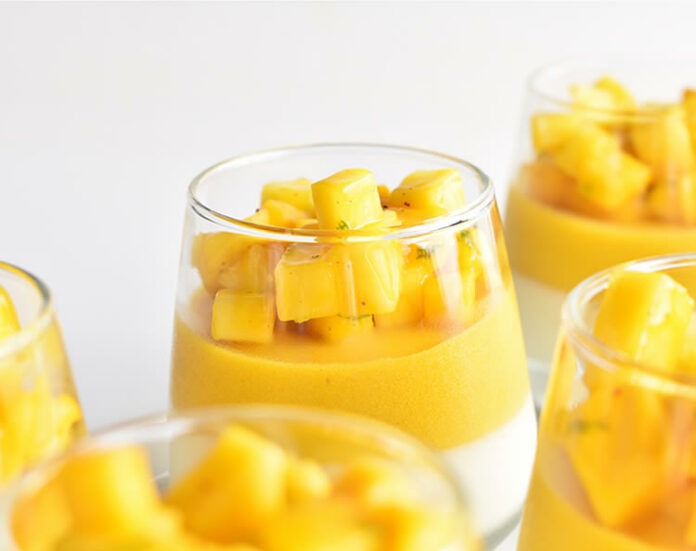 Verrine de mousse de mangue au thermomix