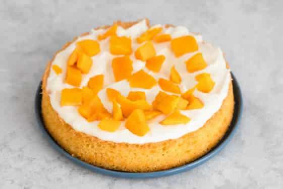 Gâteau à la crème et à la mangue 1