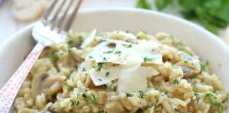 Risotto aux champignon et oignon au cookeo