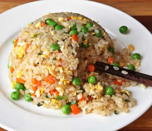 Riz aux carottes et petits pois