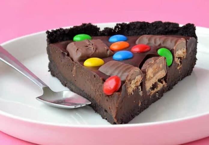 Tarte au chocolat et barres chocolatées