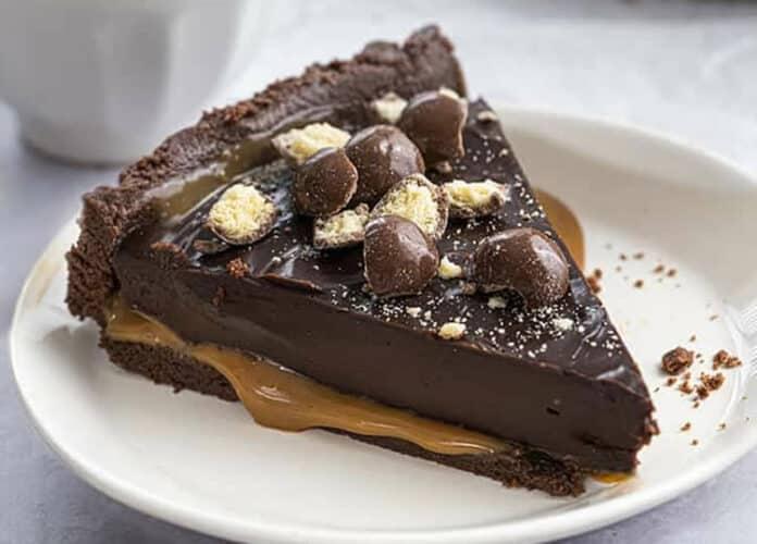 Tarte chocolat et caramel sans cuisson