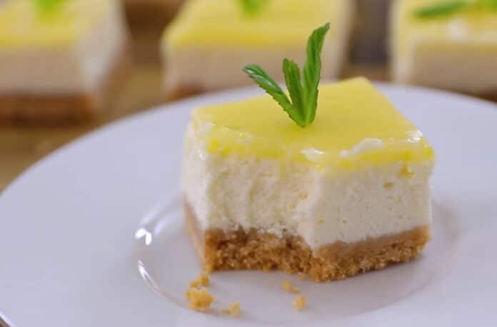 Carrés cheesecake au citron