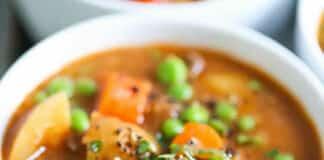 Boeuf aux carottes et petits pois