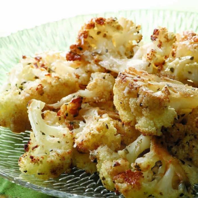 Chou-fleur au parmesan au four