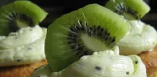 Cupcakes au glaçage kiwi
