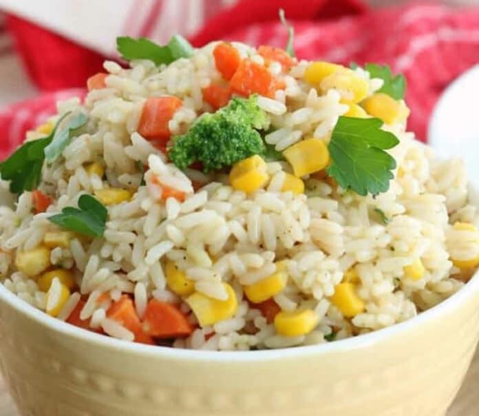 Riz aux petits légumes au cookeo