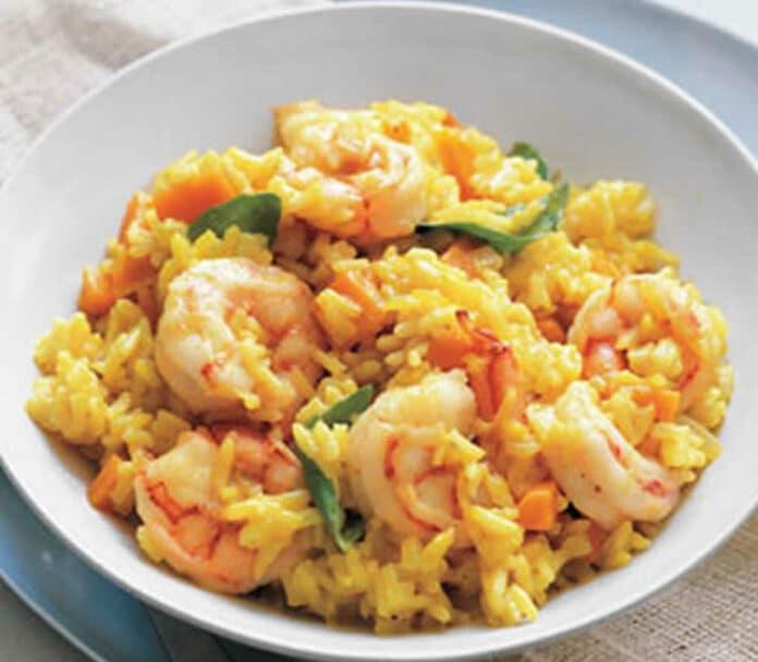 Riz crevettes et curry au cookeo
