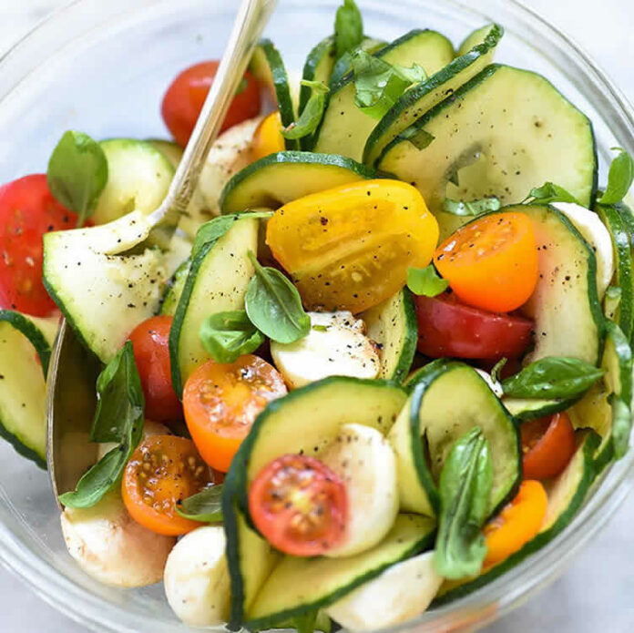 Salade courgettes et tomates W Watchers