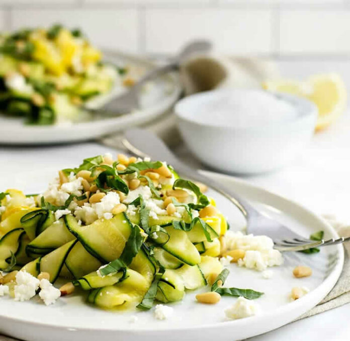 Salade de courgettes à la feta