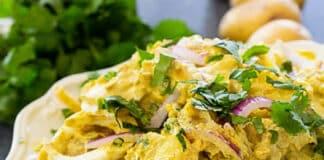 Salade pommes de terre curry au cookeo