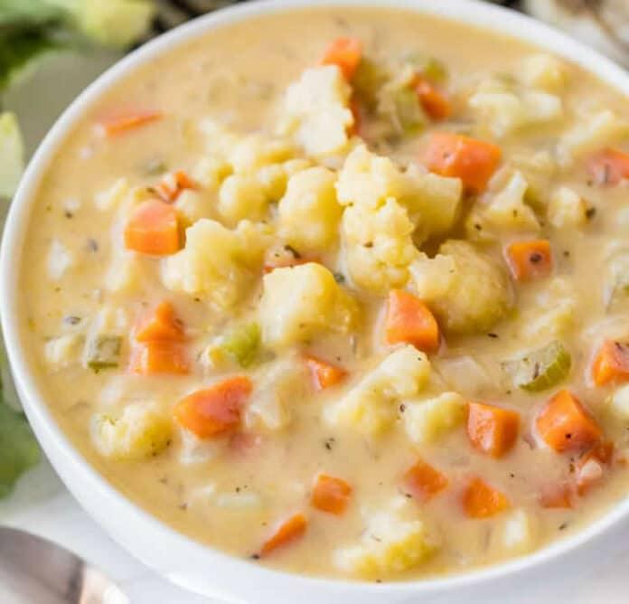 Soupe de chou-fleur aux carottes