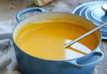 Soupe de patates douces et courge