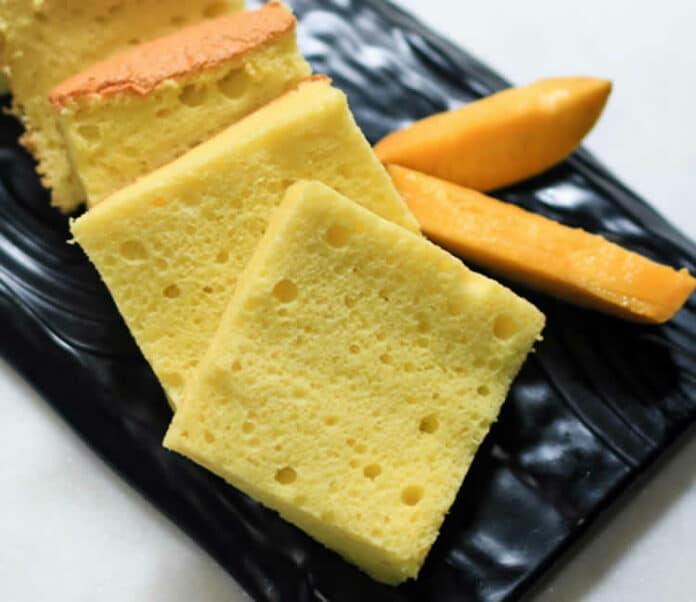 Sponge cake à la mangue