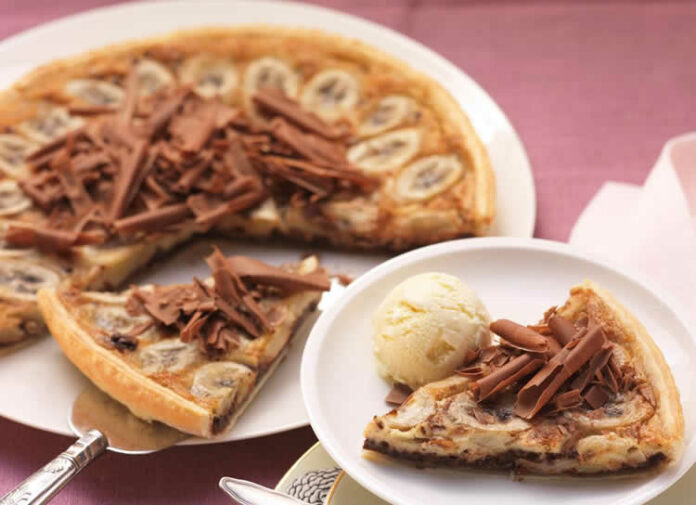 Tarte banane et chocolat W.Watchers