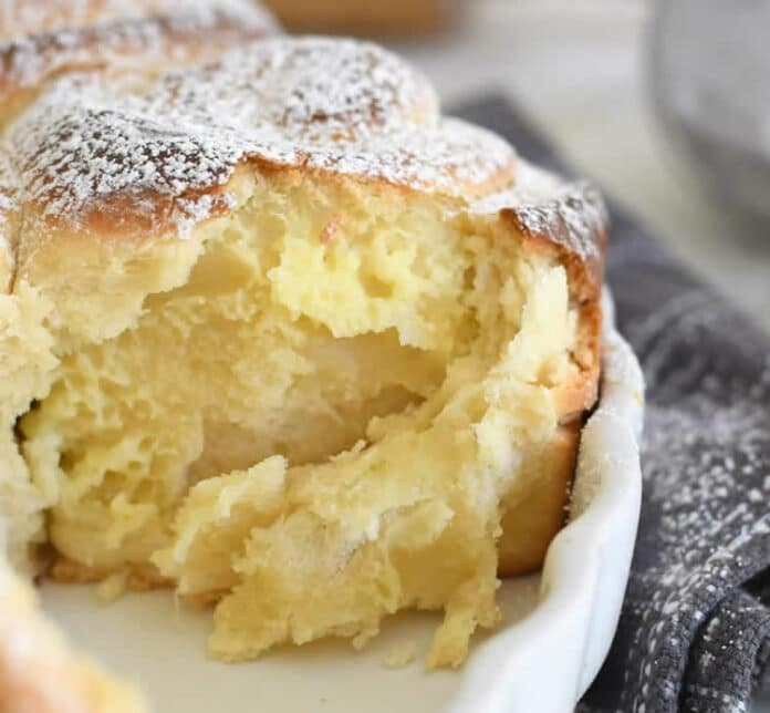 Mini brioches à la crème pâtissière