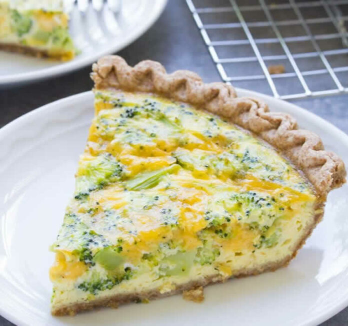 Quiche brocoli et fromage cheddar