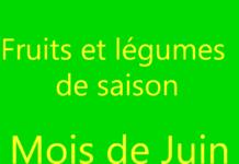 Fruits et légumes de saison - Mois de Juin