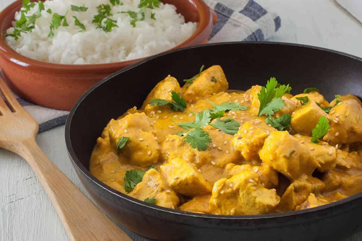 Poulet à la crème au curry au cookeo