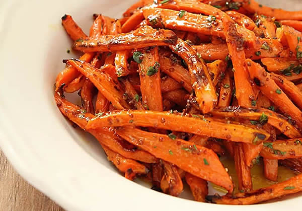 Recette de carottes rôties au four