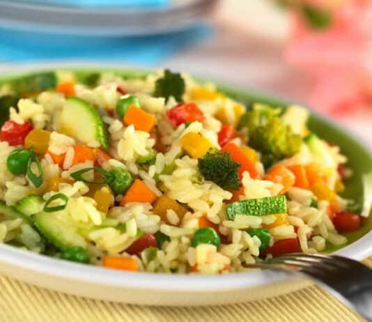 Riz aux légumes de la saison