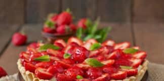 Tarte aux fraises et crème pâtissière au thermomix