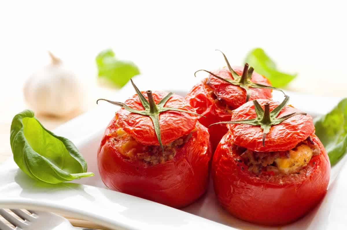 Tomates farcies à la viande hachée au Cookeo