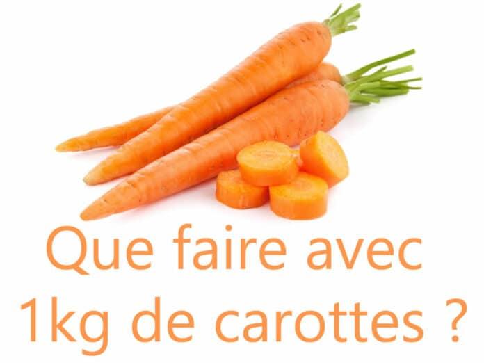 Recette avec carottes