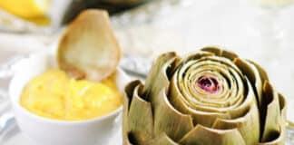 Artichauts à la sauce moutarde