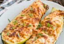 Courgettes farcies au poulet et fromage
