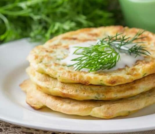 Galettes courgettes et fromage ricotta