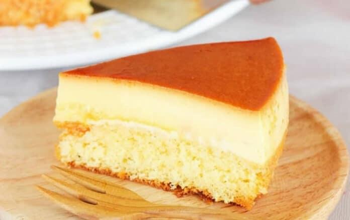 Gâteau à la crème pâtissière et au caramel