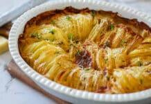 Pommes de terre à la crème au four