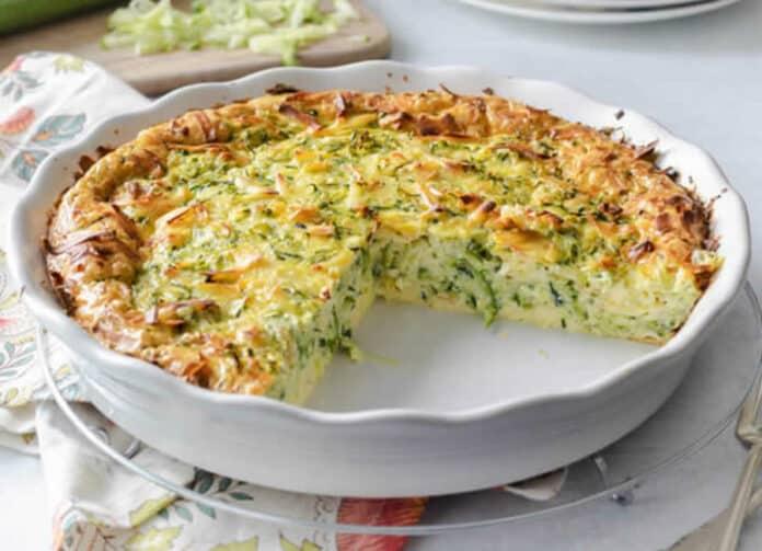 Quiche aux courgette et fromage