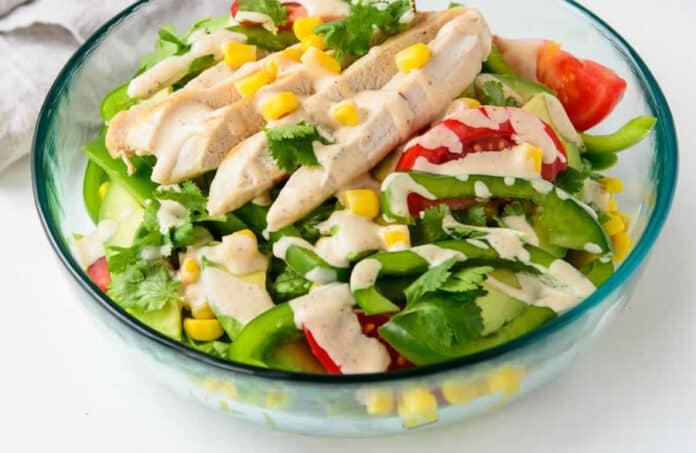 Salade de poulet tomate et poivron