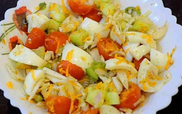 Salade protéinée pour la perte de poids